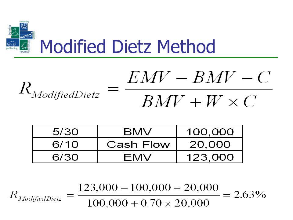 Modified Dietz Method