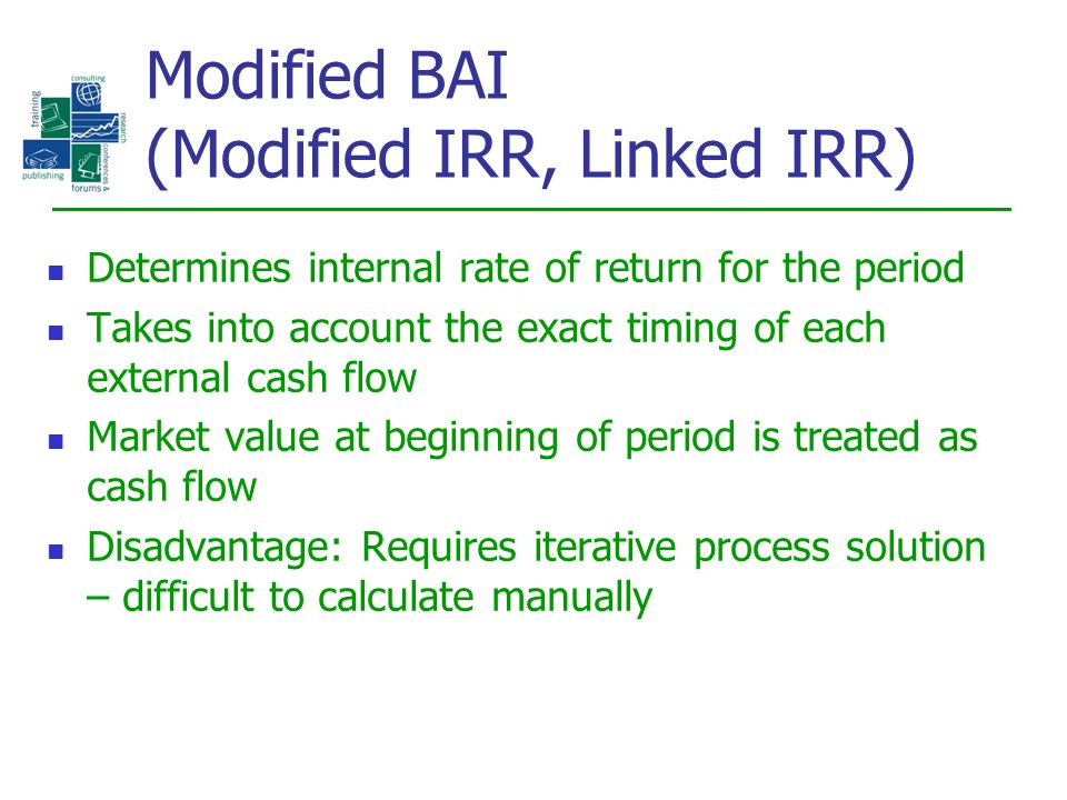Modified BAI (Modified IRR, Linked IRR)