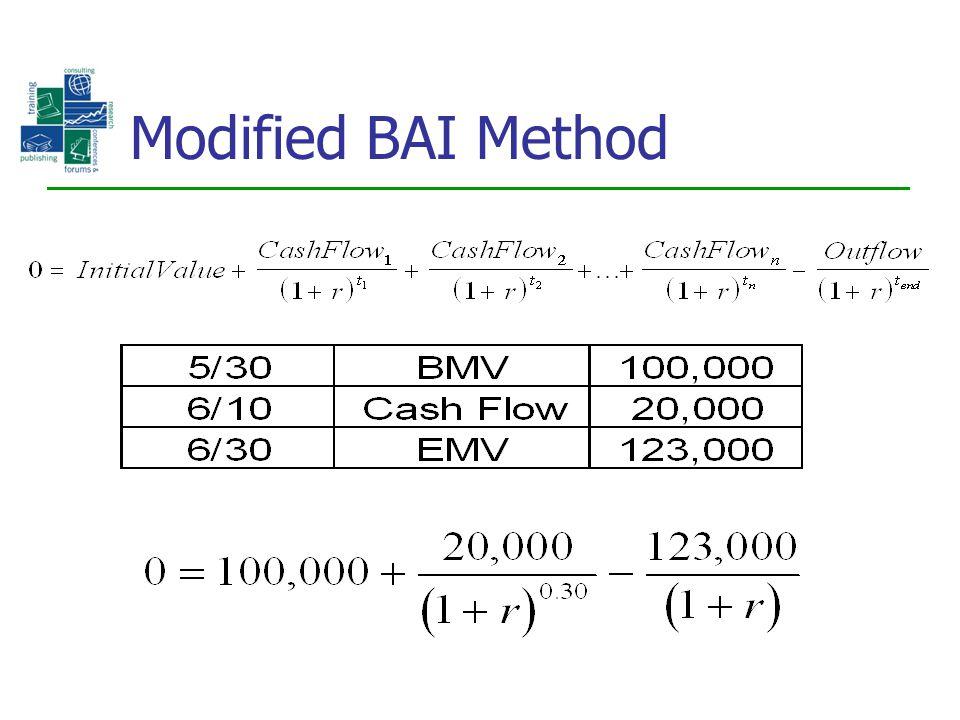 Modified BAI Method