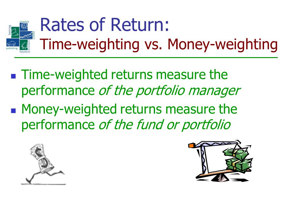 Rates of Return: Time-weighting vs. Money-weighting