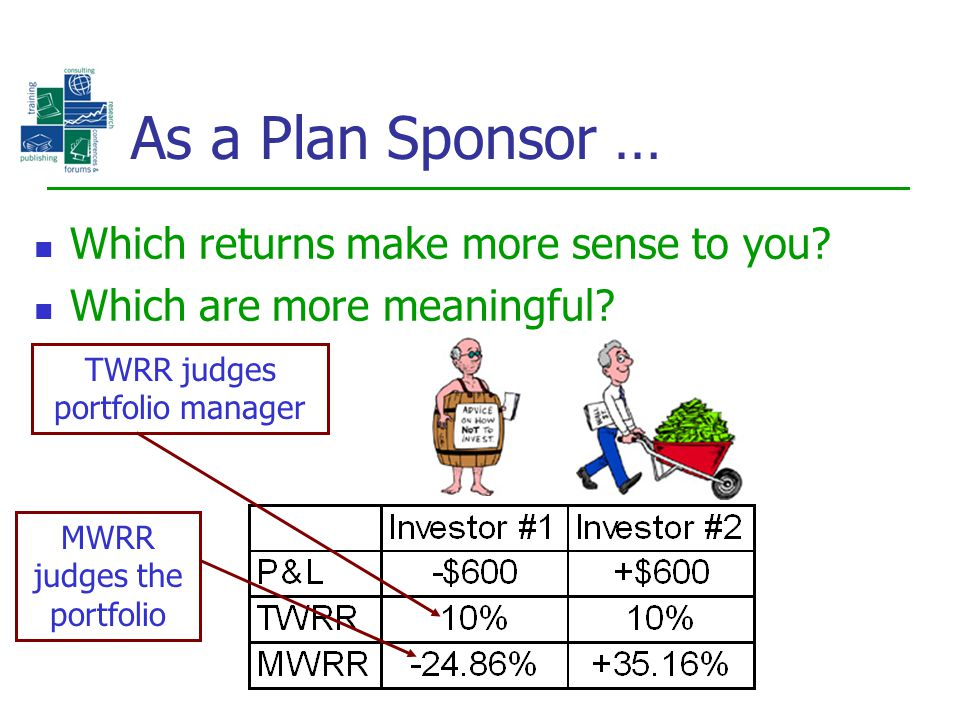 As a Plan Sponsor … Which returns make more sense to you