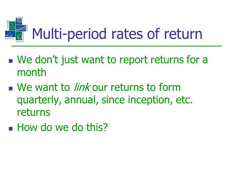 Multi-period rates of return