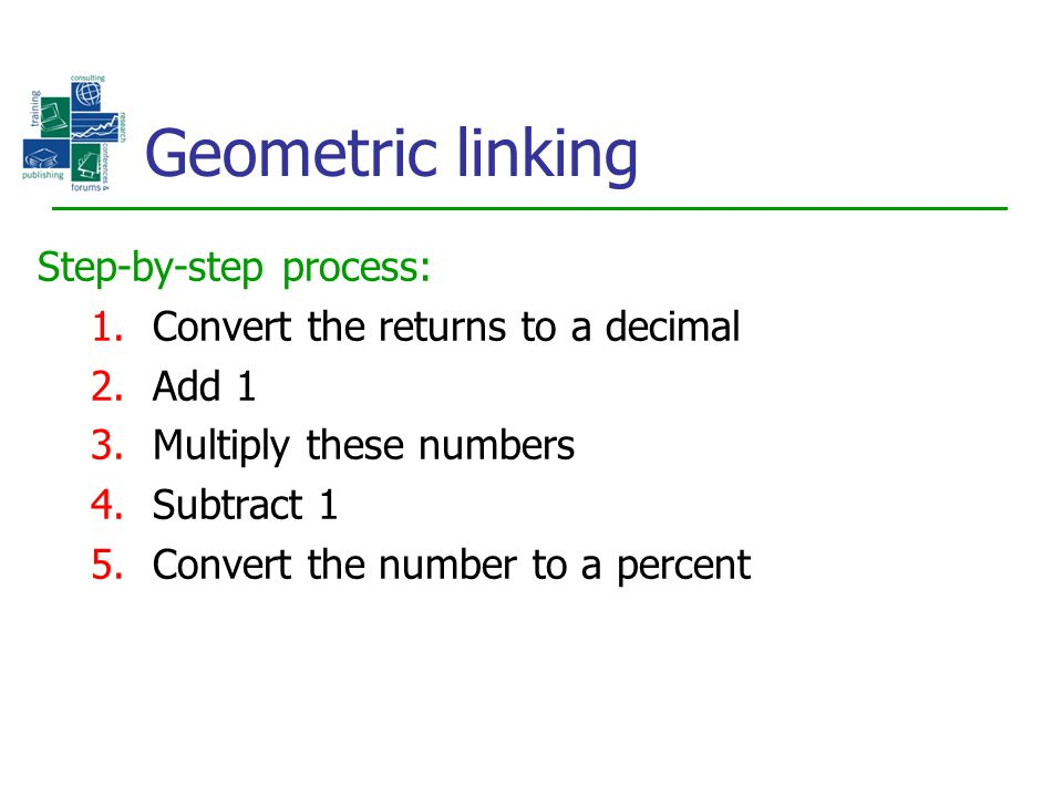 Geometric linking Step-by-step process: