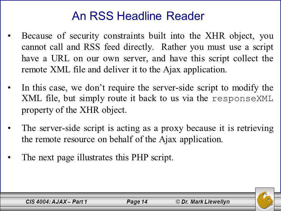 An RSS Headline Reader