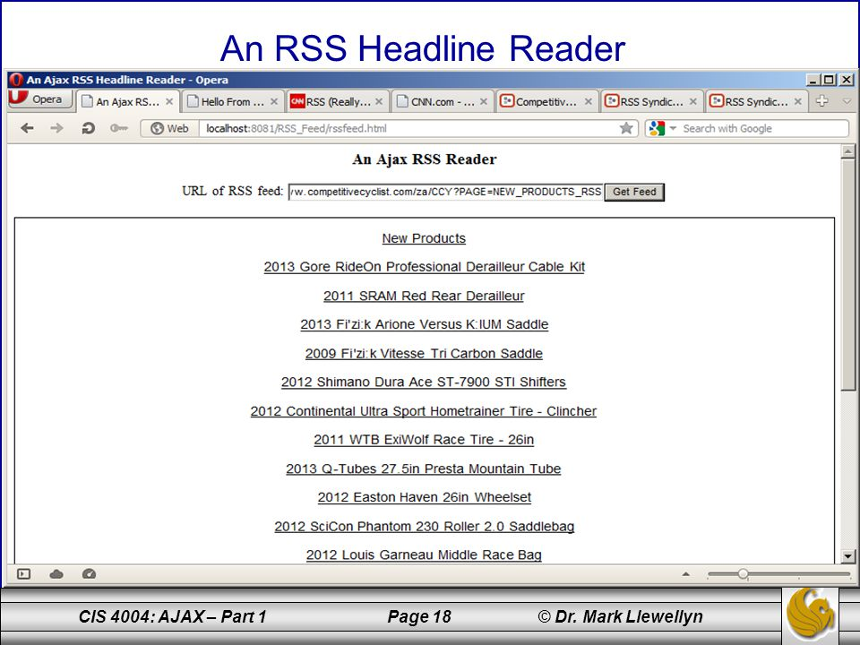 insert images of RSS reader in action here on next few pages.