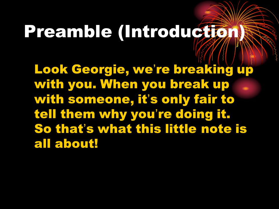 Preamble (Introduction)
