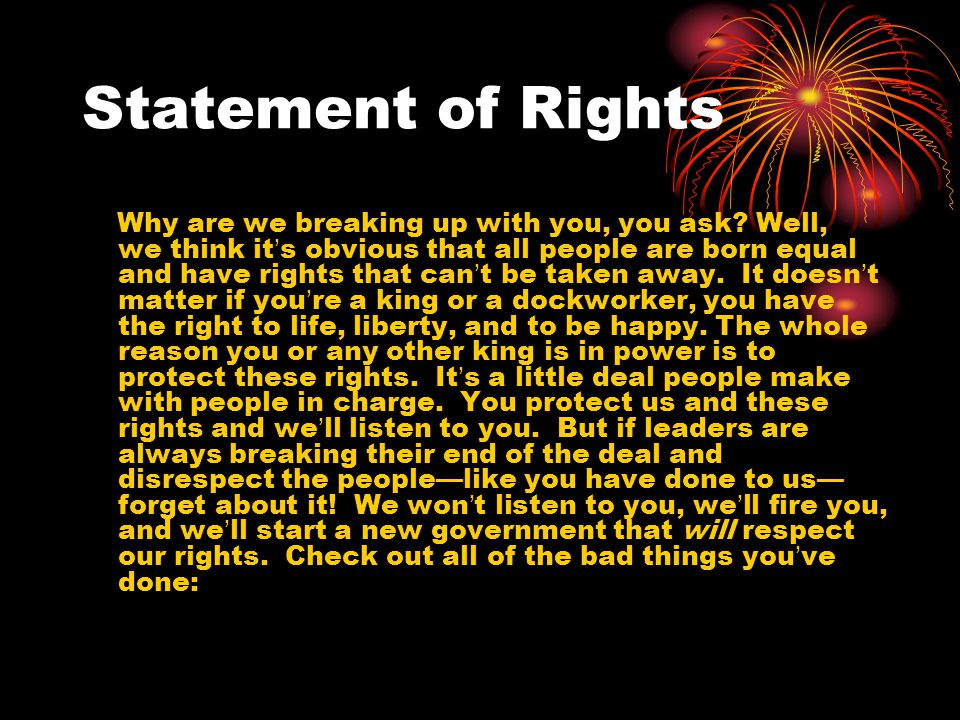Statement of Rights