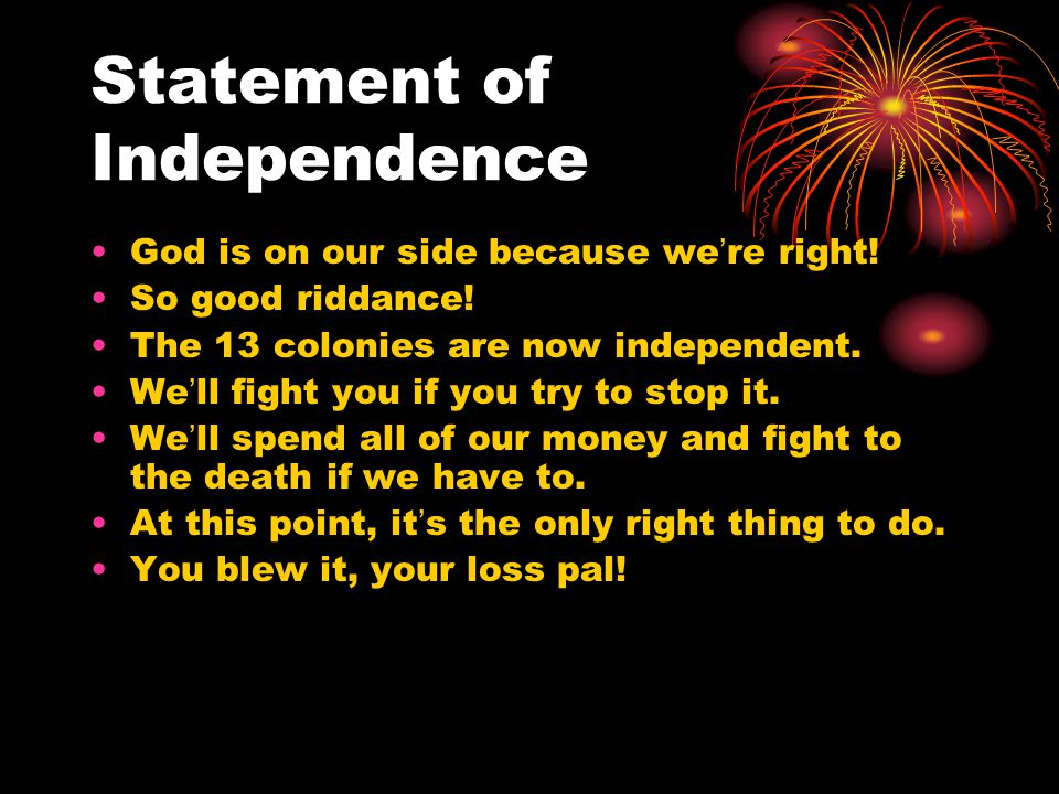 Statement of Independence