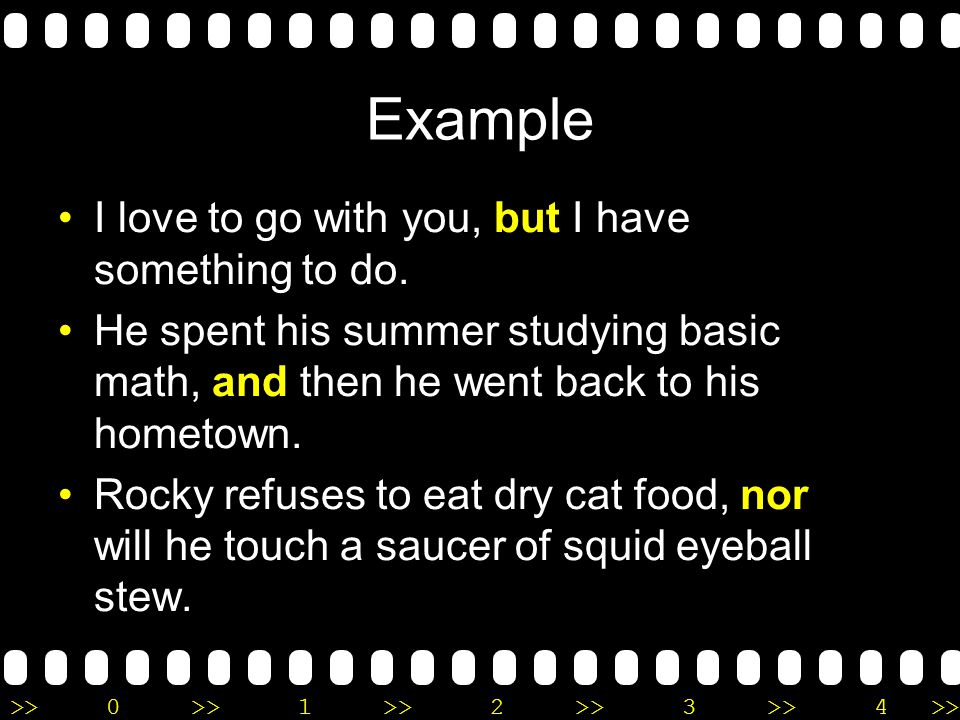 conjunctions grammatical conjunction and squid eyeball Recognize a coordinating conjunction when you see one and, but, for, nor, or, so, and yet—these are the seven coordinating conjunctions squid eyeball stew.