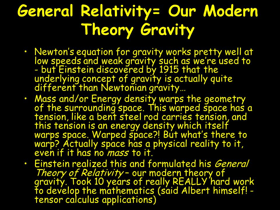 General Relativity= Our Modern Theory Gravity