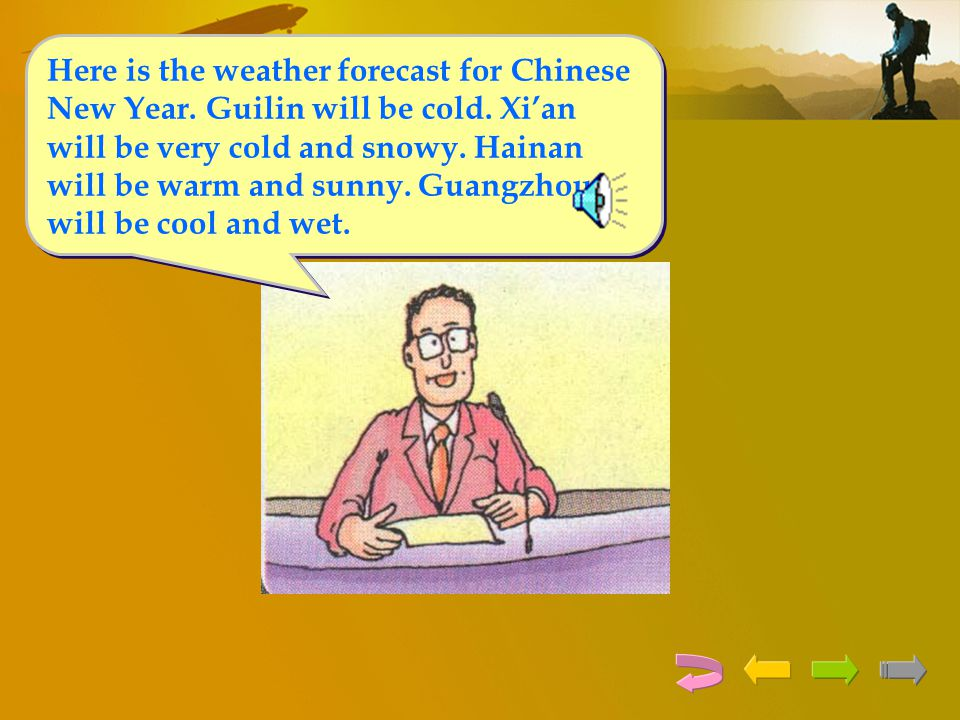 Here is the weather forecast for Chinese New Year. Guilin will be cold