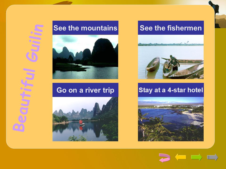 Beautiful Guilin See the mountains See the fishermen
