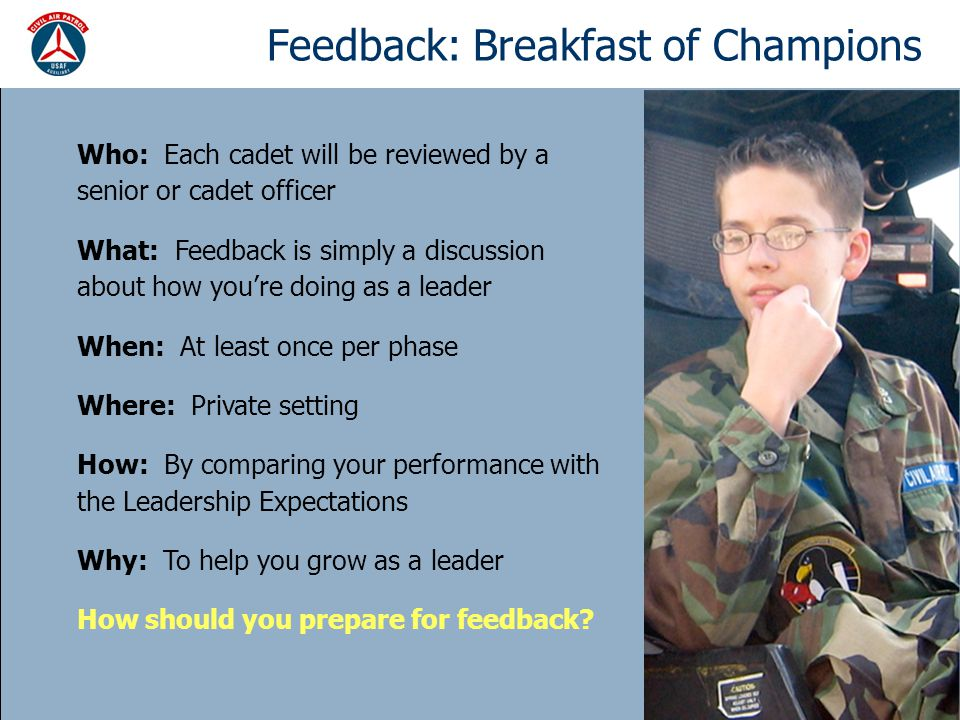 Feedback: Breakfast of Champions