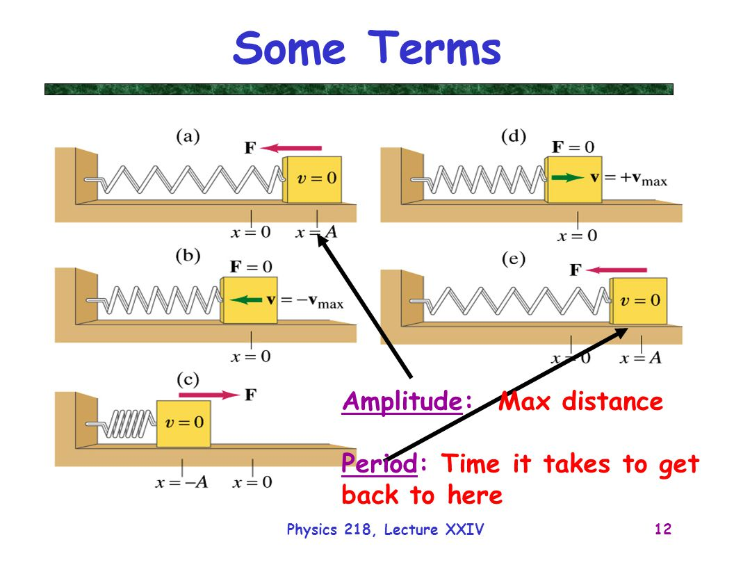 Some Terms Amplitude: Max distance Period: Time it takes to get