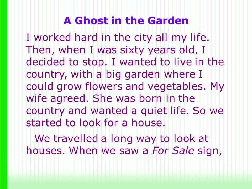 A Ghost in the Garden