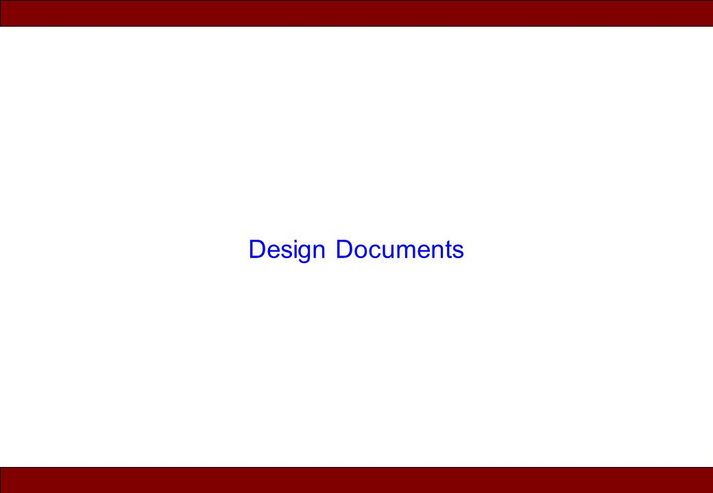 Design Documents