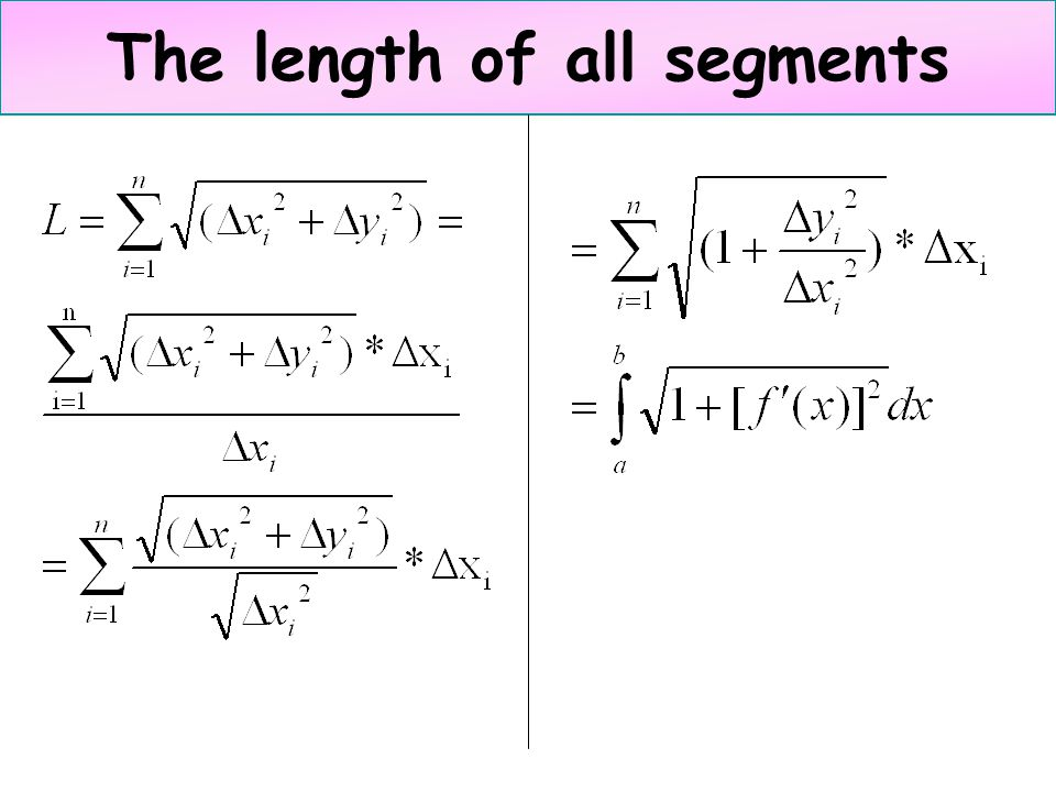 The length of all segments