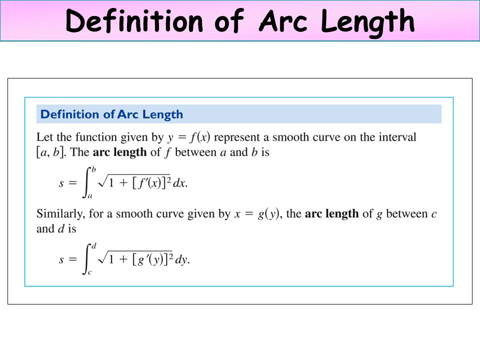 Definition of Arc Length