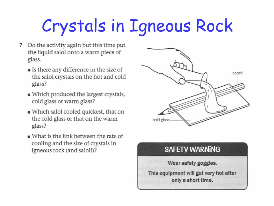 Crystals in Igneous Rock