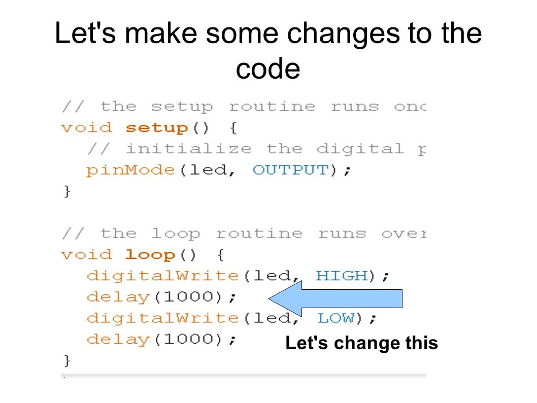 Let s make some changes to the code