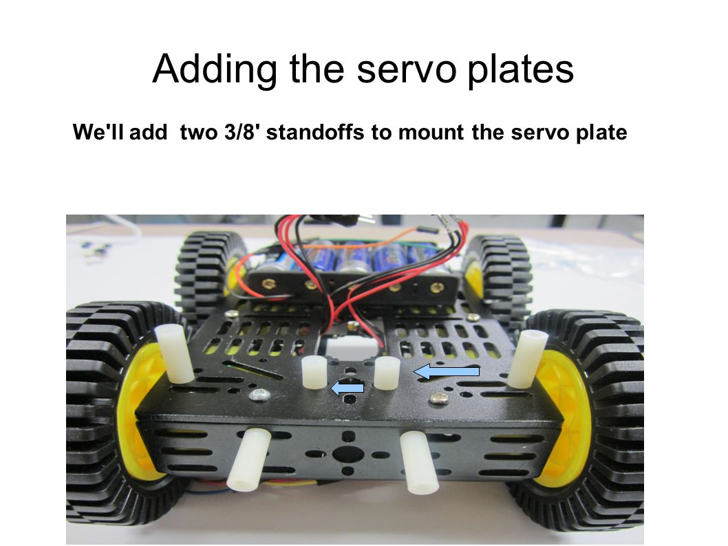 Adding the servo plates