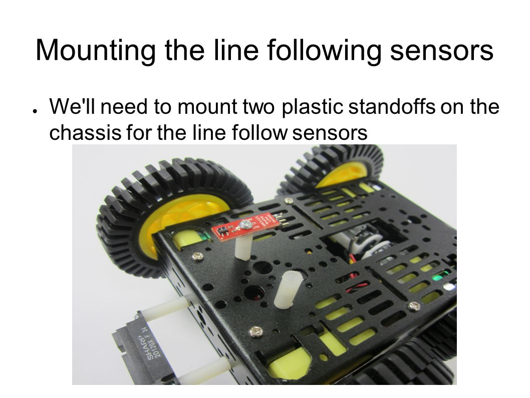 Mounting the line following sensors