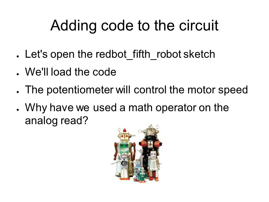 Adding code to the circuit