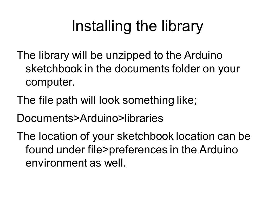 Installing the library