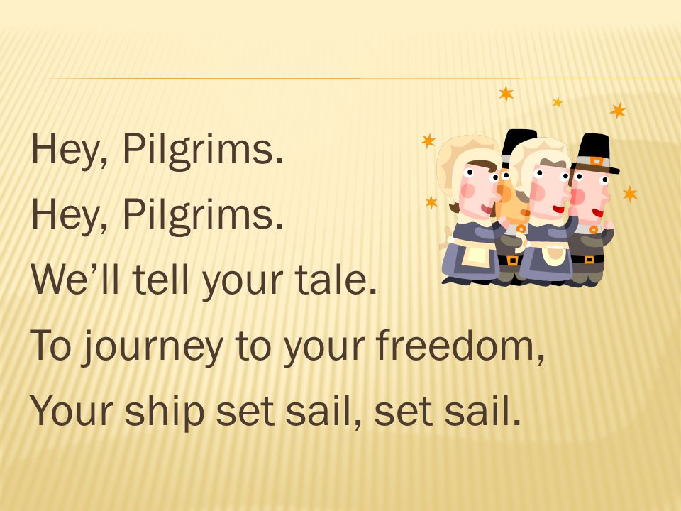 Hey, Pilgrims. We'll tell your tale