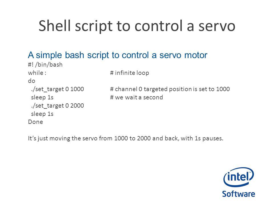 Shell script to control a servo