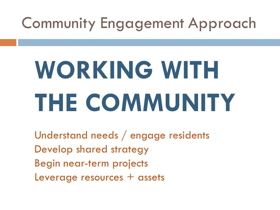 Community Engagement Approach