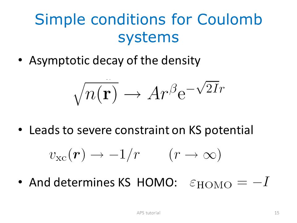 Simple conditions for Coulomb systems
