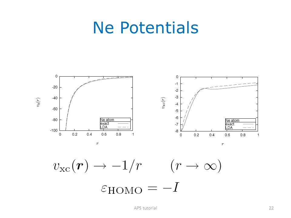Ne Potentials APS tutorial