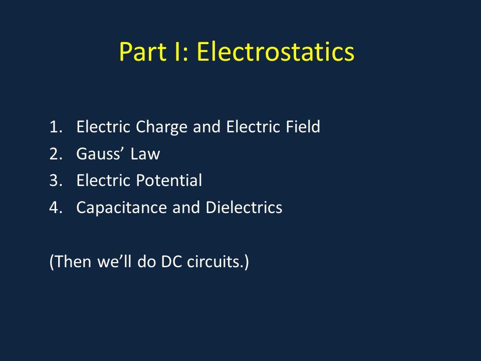Part I: Electrostatics
