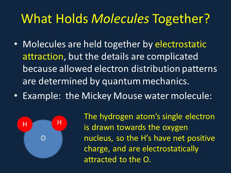 What Holds Molecules Together