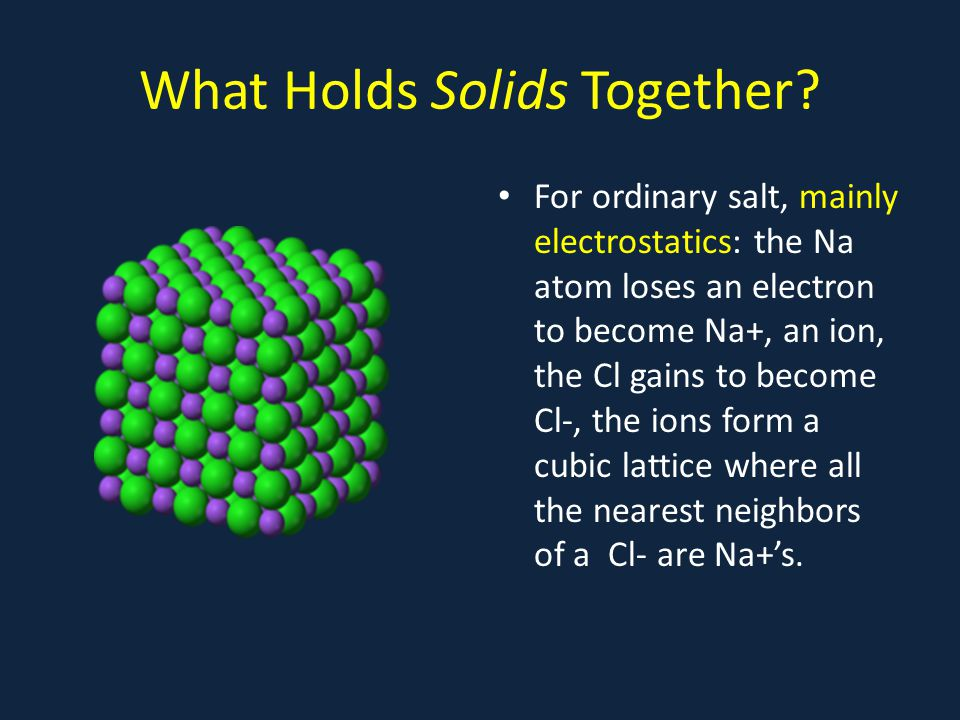 What Holds Solids Together