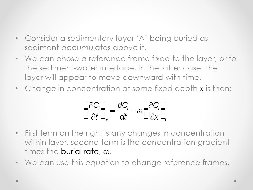 Consider a sedimentary layer 'A' being buried as sediment accumulates above it.