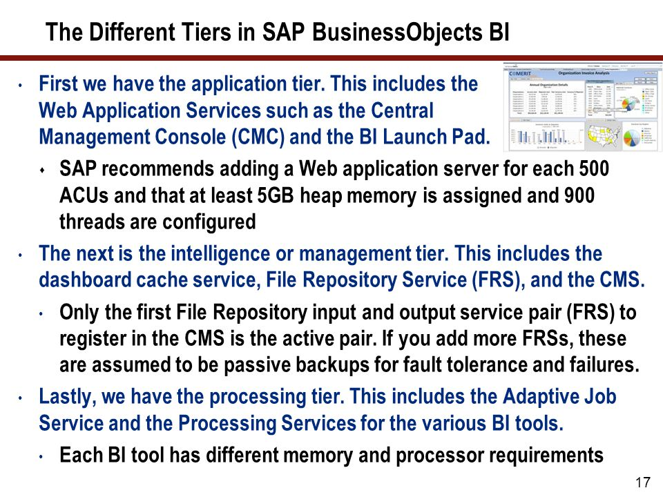The SAP BusinessObjects BI Scalability