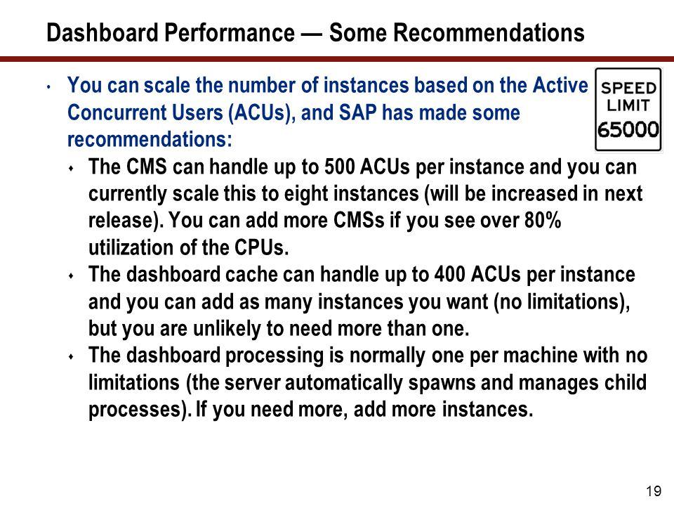 More Key Factors That Determine Dashboard Performance