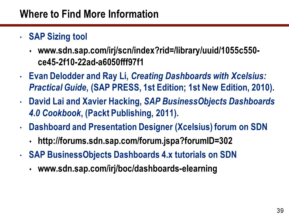7 Key Points to Take Home Use the SAP Sizing tool for initial sizing estimates. Size your system based on concurrent users and SAPS.