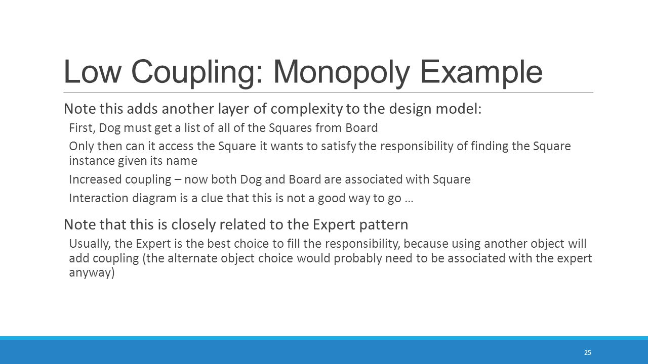 Low Coupling: Monopoly Example