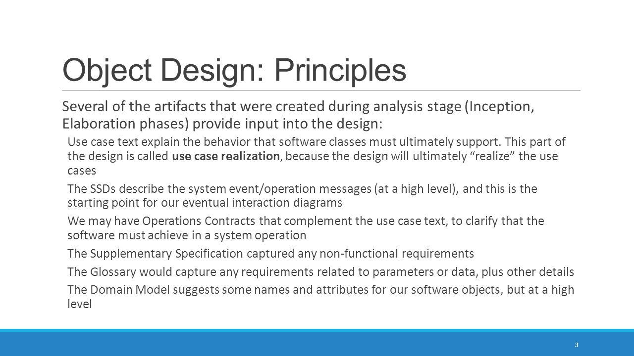 Object Design: Principles
