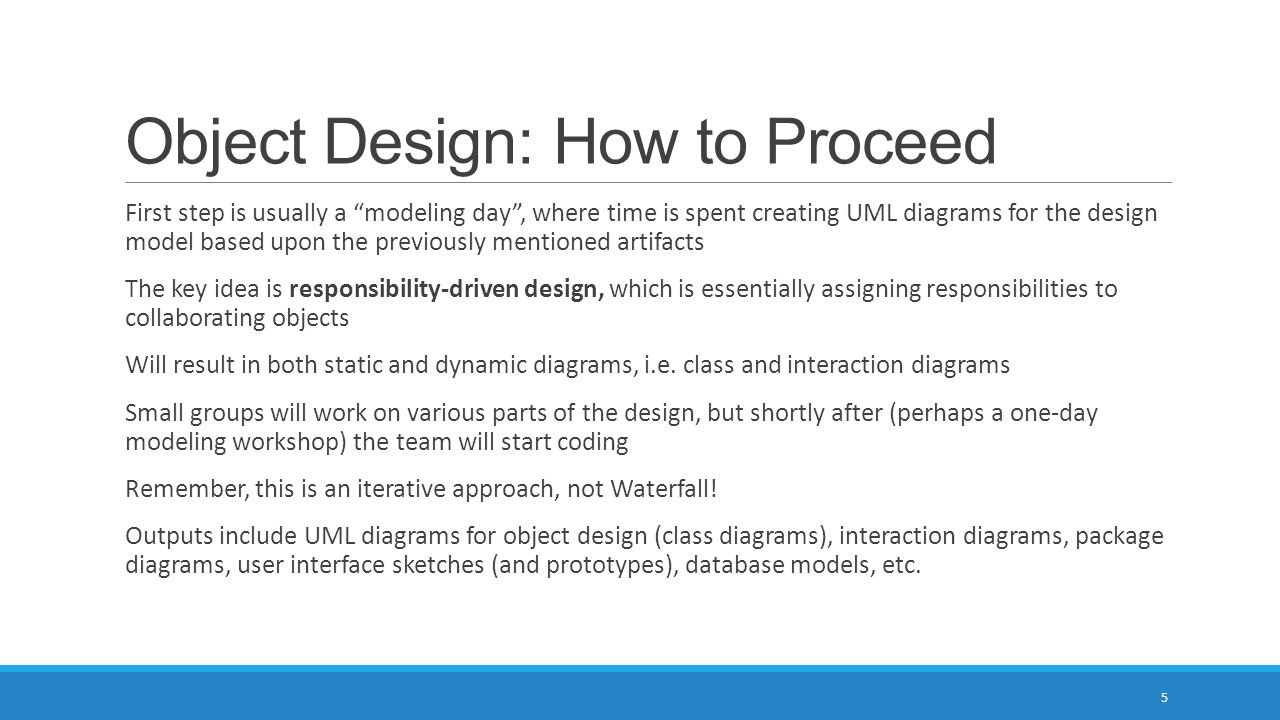 Object Design: How to Proceed