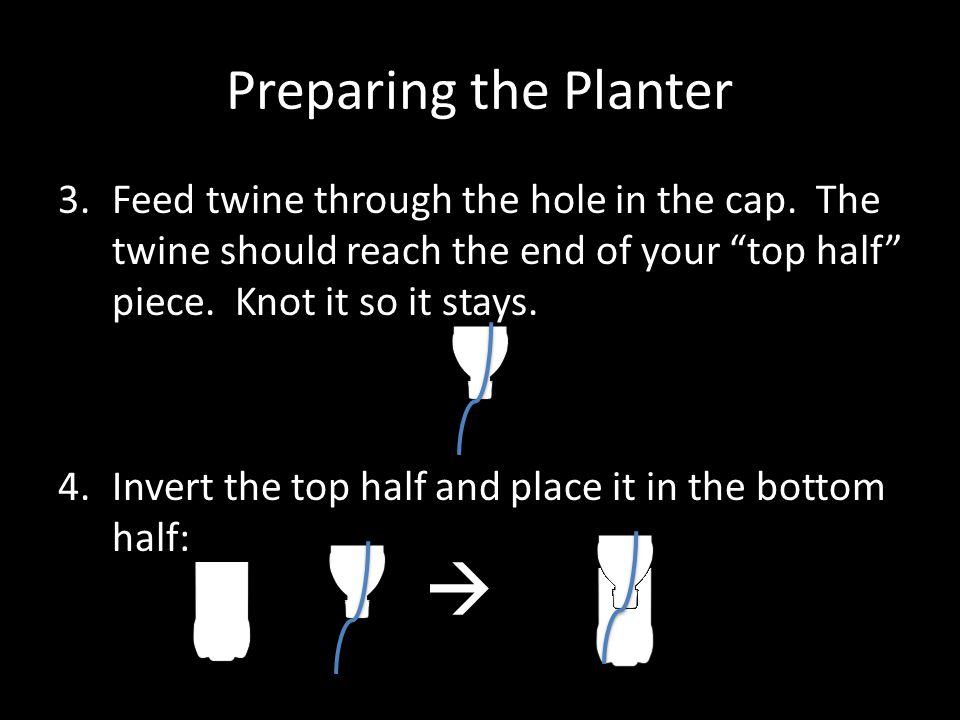  Preparing the Planter