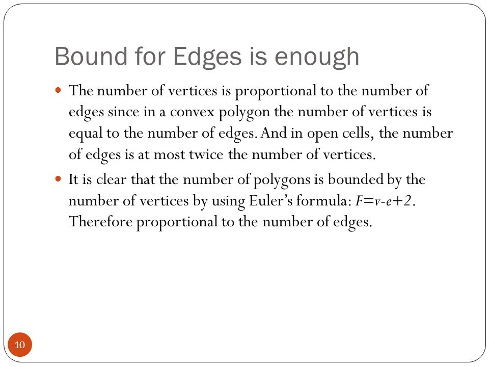 Bound for Edges is enough