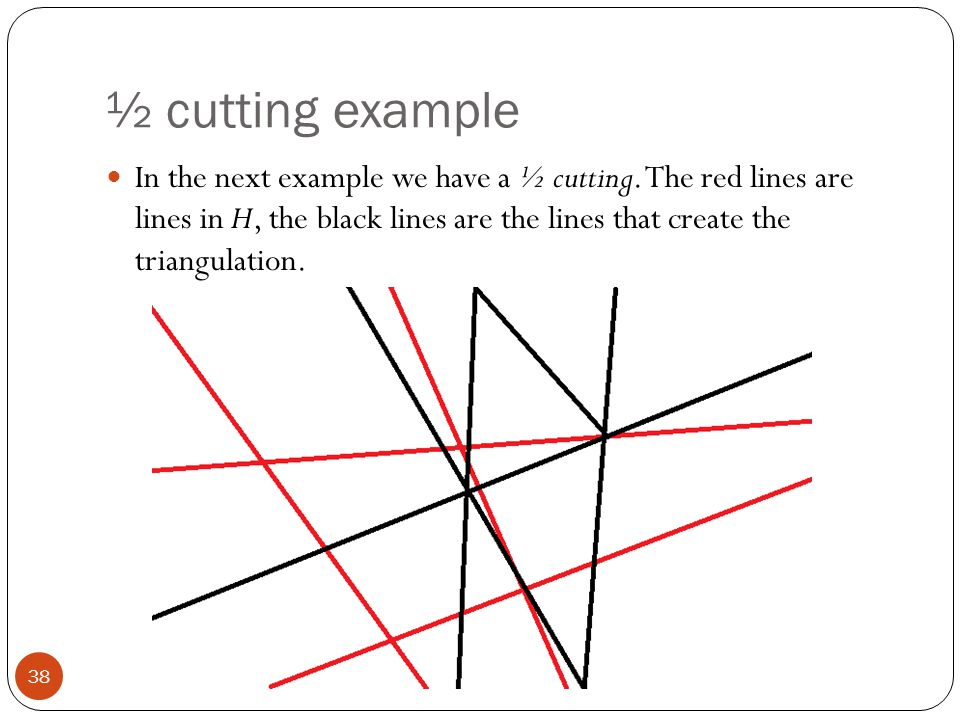 ½ cutting example
