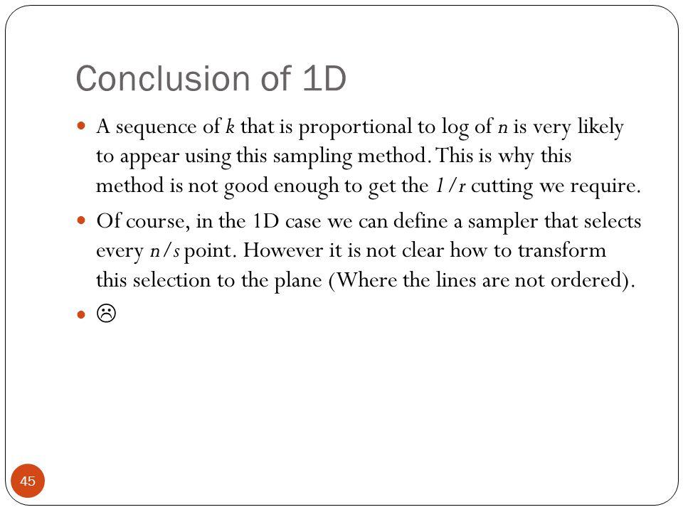 Conclusion of 1D