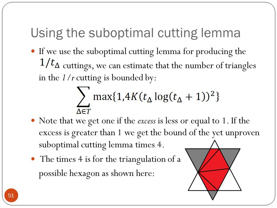 Using the suboptimal cutting lemma