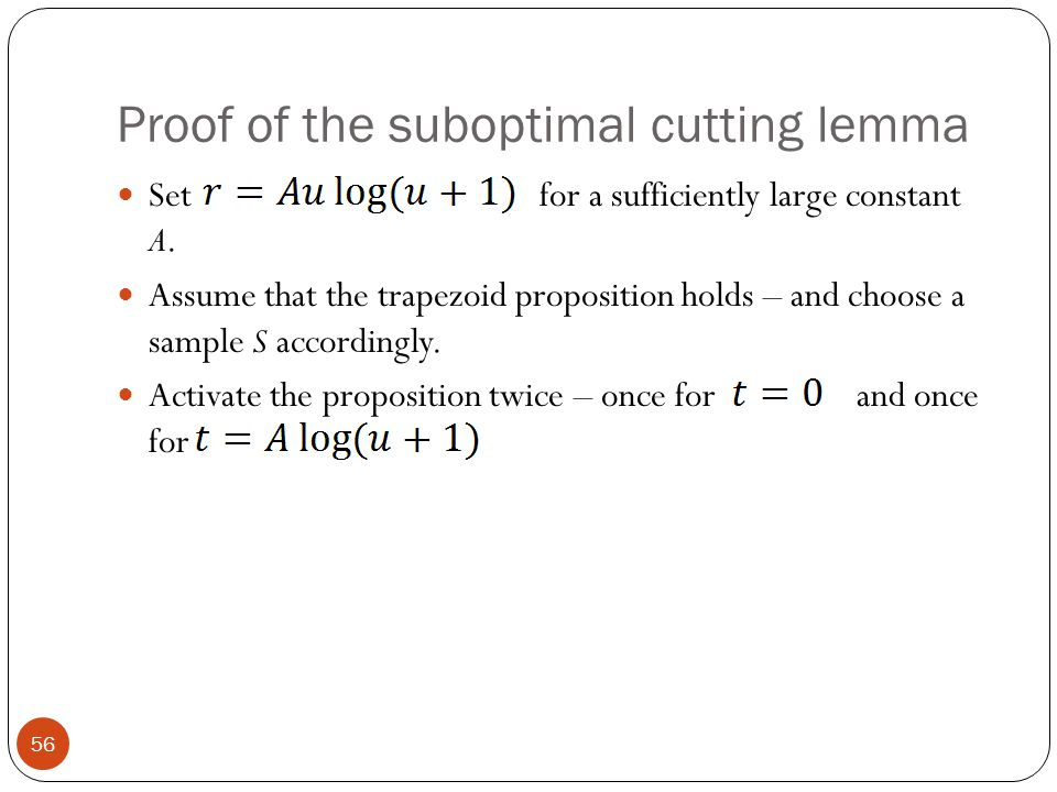 Proof of the suboptimal cutting lemma