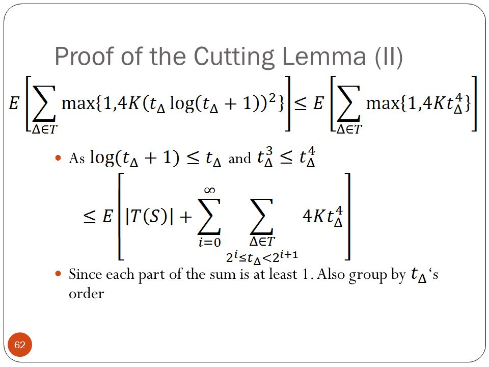 Proof of the Cutting Lemma (II)